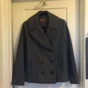 Jackets & Blazers - Charcoal Grey Double Breasted Peacoat